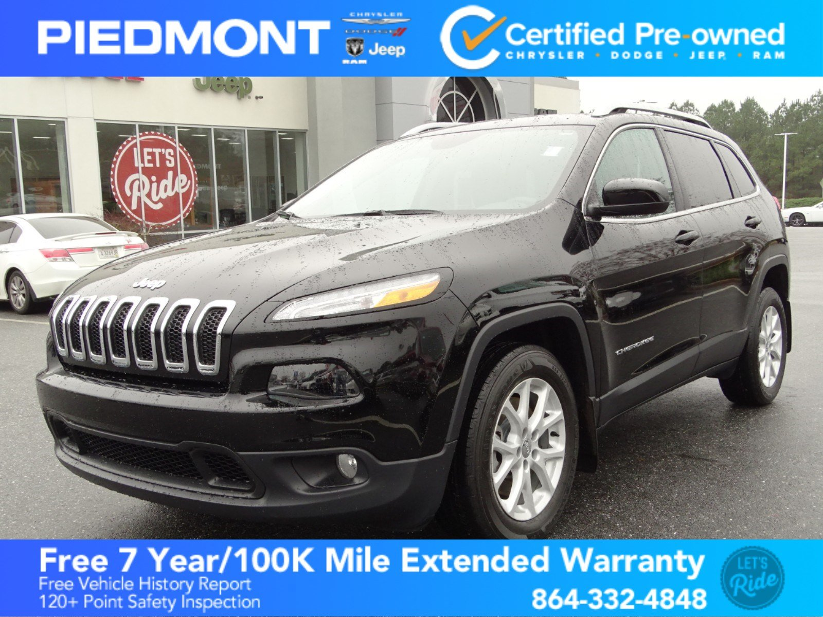 Certified Pre Owned 2018 Jeep Cherokee Latitude W/bluetooth