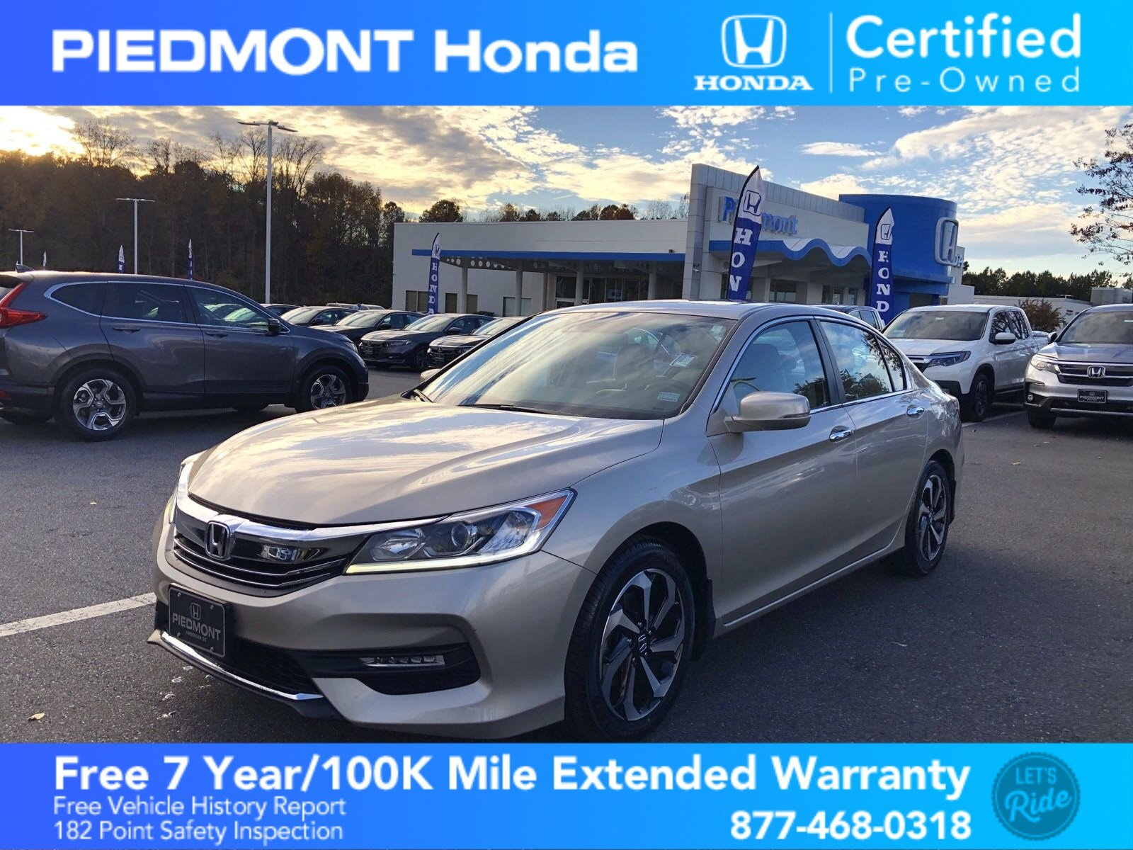 Certified Pre-Owned 2016 Honda Accord Sedan 4dr I4 CVT EX w/Honda Sensing