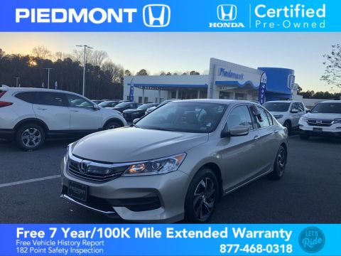 Certified Pre-Owned 2016 Honda Accord Sedan 4dr I4 CVT LX