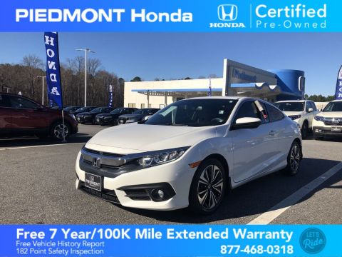 Certified Pre-Owned 2017 Honda Civic Coupe EX-L CVT